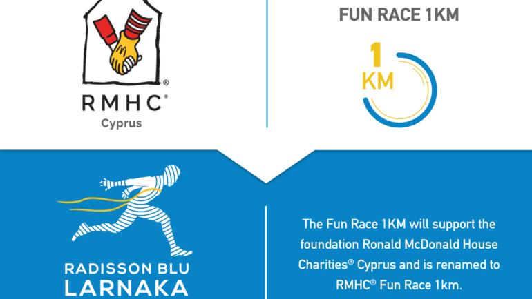Το Fun Race 1ΚΜ αποκτά φιλανθρωπικό χαρακτήρα και στηρίζει το ίδρυμα Ronald McDonald House Charities® Κύπρου